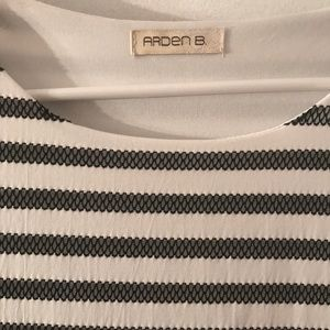 Arden B Dresses - White/black stripped Arden B dress